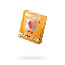 Презервативы Masculan Ultra 5, Золотые, №3