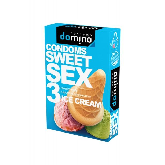 Презервативы Luxe DOMINO SWEETSEX №3, мороженое