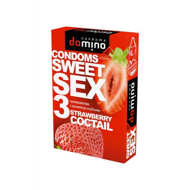 Презервативы Luxe DOMINO SWEETSEX №3, клубника