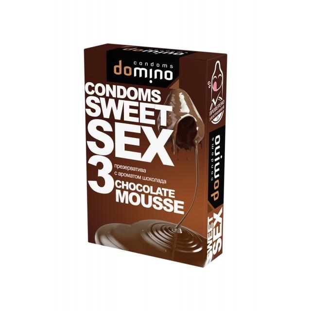 Презервативы Luxe DOMINO SWEETSEX №3, шоколад