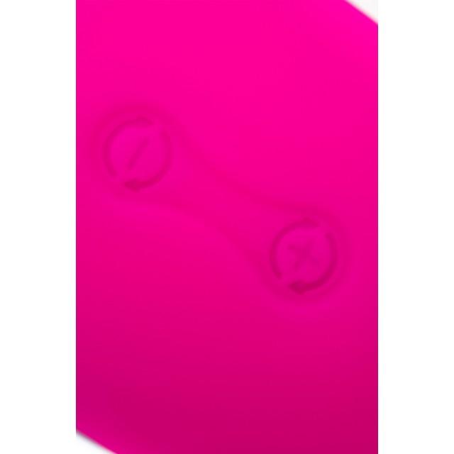 Вибромассажер L'EROINA Tena, Силиконовый, Розово-белый, 11см