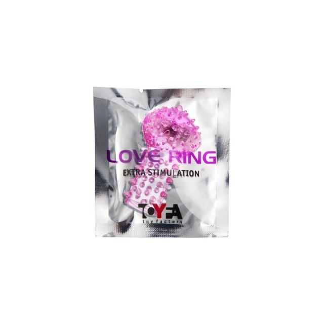 Вибронасадка на палец TOYFA Vibro Sleeve, TPE, Розовая