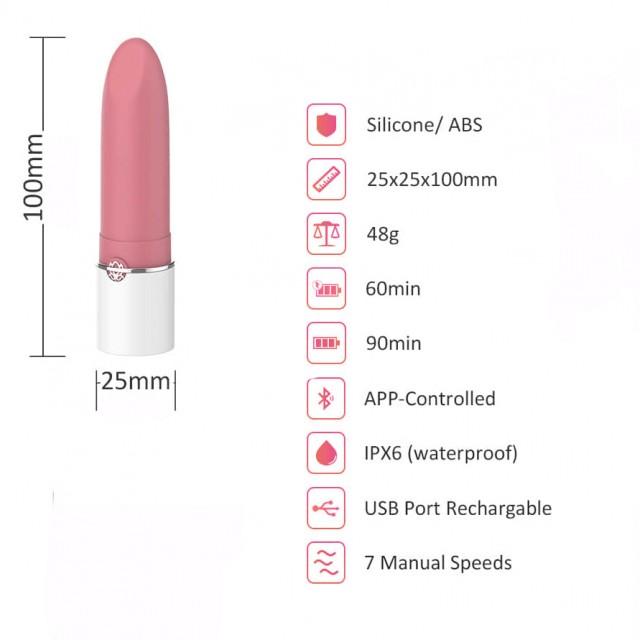 Минивибратор Magic Motion Lotos, Силиконовый, Розовый, 10см