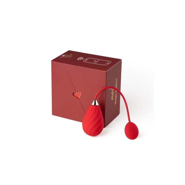 Виброяйцо Magic Motion Sundae, Силиконовый, Красный, 19см