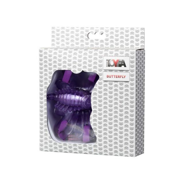 Вибробабочка TOYFA, ПВХ, Фиолетовая