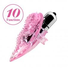 Вибронасадка на палец Baile Finger Vibrator, TPE, Розовая