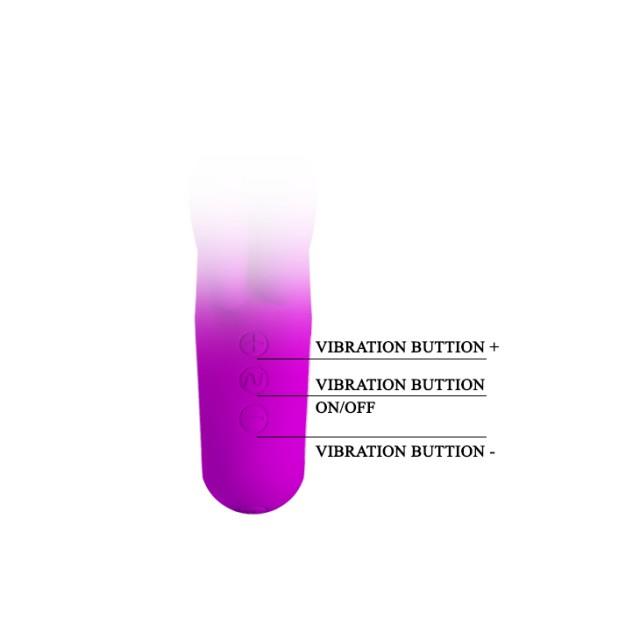 Вибратор Baile Pretty Love Chris, Силиконовый, Фиолетовый, 15,4см