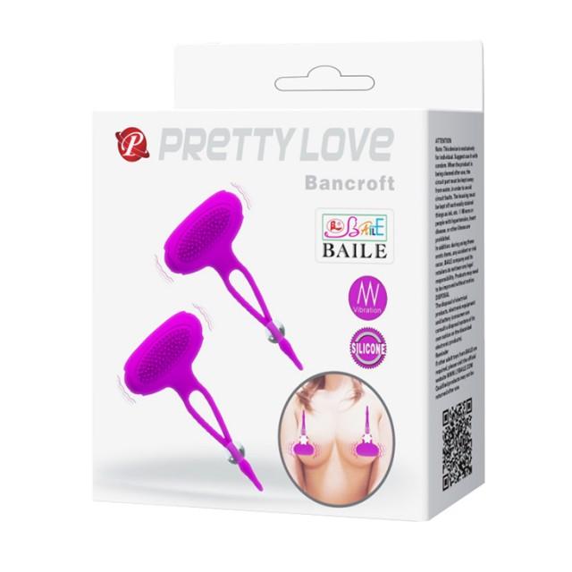 Вибростимулятор для груди Pretty Love Bancroft, Силиконовый, Розовый