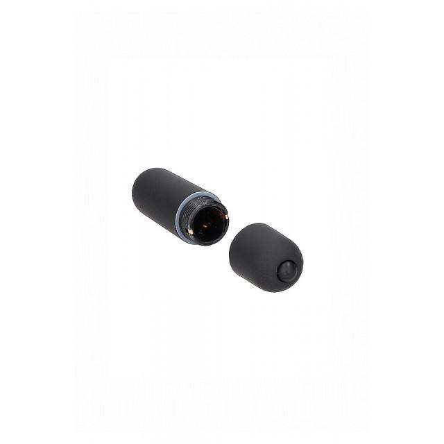 Вибропуля Shots Toys Power Bullet, ABS пластик, Чёрная, 6см