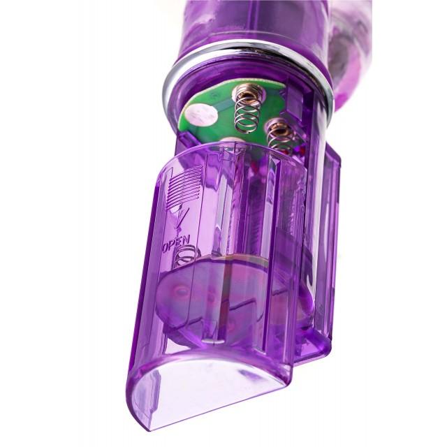 Вибратор с клиторальным стимулятором TOYFA A-Toys, High-Tech fantasy, TPE, Фиолетовый, 26,5см