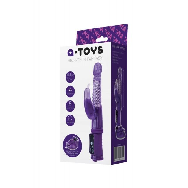 Вибратор с клиторальным стимулятором TOYFA A-Toys, High-Tech fantasy, TPR, Фиолетовый, 24см