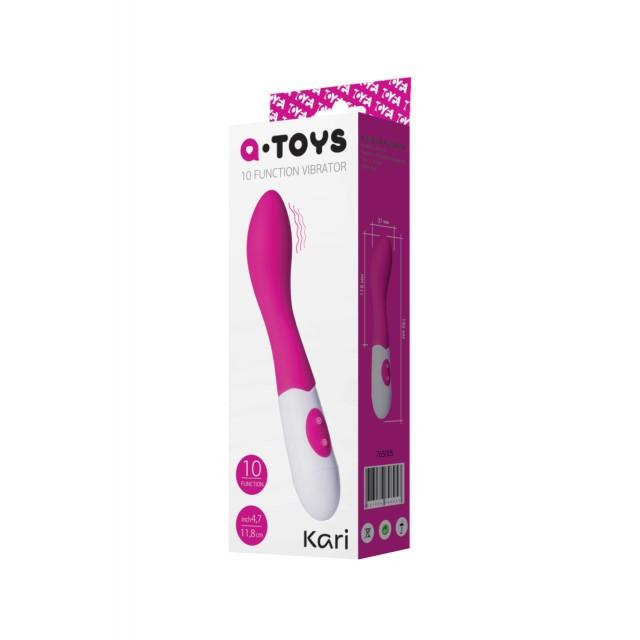 Стимулятор точки G TOYFA A-Toys Kari, Силиконовый, Розовый, 19,2см