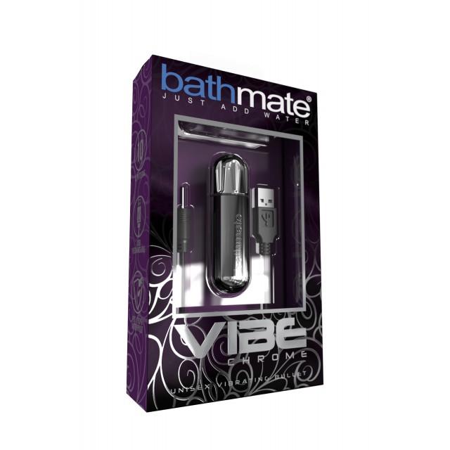 Вибропуля Bathmate Vibe Bullet Chrome, Пластиковая, Серебристая