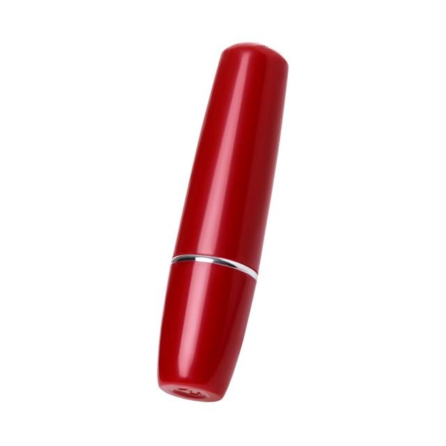 Вибромассажер TOYFA Lipstick, ABS пластик, Красный, 9 см