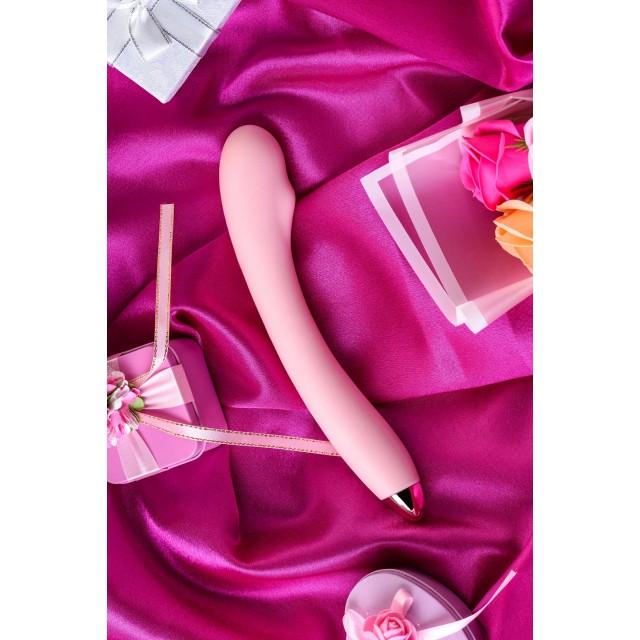 Вибромассажер Eromantica Kristen, Силиконовый, Розовый, 22,5см