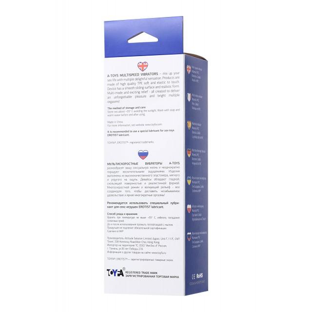 Реалистичный вибратор TOYFA A-Toys, TPE, Мультискоростной, Телесный, 20см