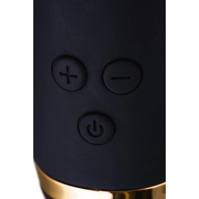 Вибратор с клиторальным стимулятором WANAME D-SPLASH Thunder, Силиконовый, Чёрный, 24,2см