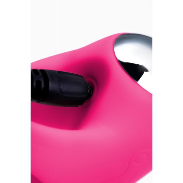Виброяйцо и вибронасадка на палец JOS VITA, Силиконовое, Розовые