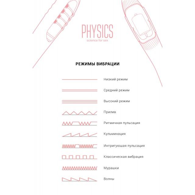 Вибратор PHYSICS FAHRENHEIT с нагревом и пульсирующими шариками, 19см