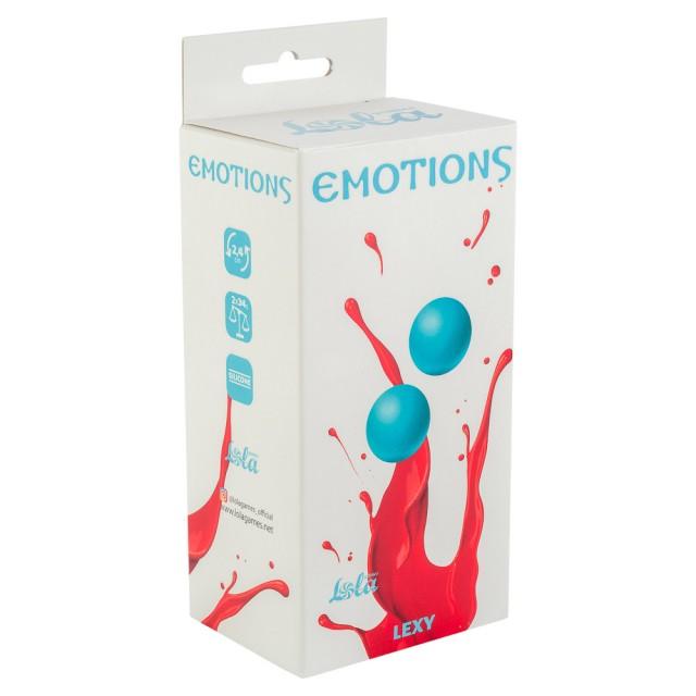 Вагинальные шарики без сцепки Emotions Lexy Small, Силиконовые, Голубые