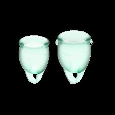 Менструальные чаши, набор Satisfyer Feel Confident, салатовый, 15мл и 20мл