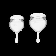 Менструальные чаши, набор Satisfyer Feel Good, белый, 15мл и 20мл
