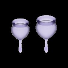 Менструальные чаши, набор Satisfyer Feel Good, лиловый, 15мл и 20мл