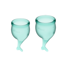 Менструальные чаши, набор Satisfyer Feel Secure, зеленый, 15мл и 20мл