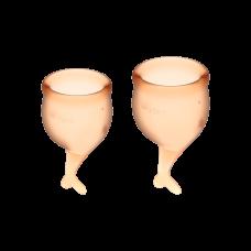 Менструальные чаши, набор Satisfyer Feel Secure, оранжевый, 15мл и 20мл