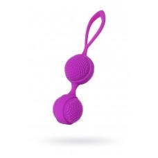 Вагинальные шарики с ресничками JOS NUBY, Силиконовые, Фиолетовые, 3,8см