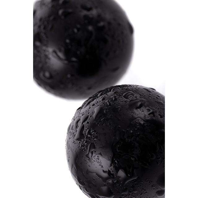 Вагинальные шарики Sexus Glass, Стекло, Чёрные Ø3,2см