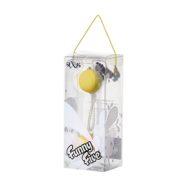 Вагинальные шарики Sexus Funny Five, ABS пластик, Желтые, Ø3см