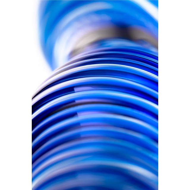 Двусторонний фаллоимитатор Sexus Glass, Стекло, Синий, 17см