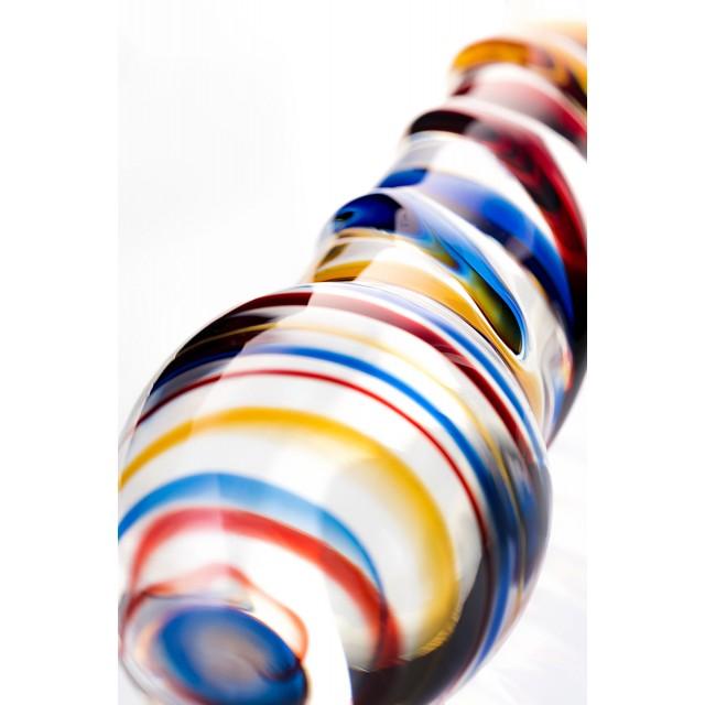 Двусторонний фаллоимитатор Sexus Glass, Стекло, Прозрачный, 19,5см