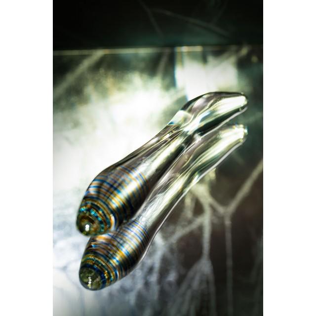 Двусторонний фаллоимитатор Sexus Glass, Прозрачный, 22см