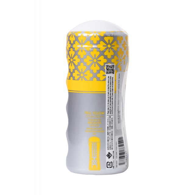 Мастурбатор MensMax Colors Frill Yellow, TPE