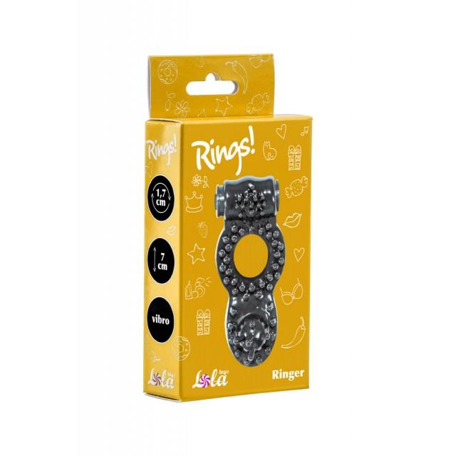 Виброкольцо эрекционное Lola Toys Rings Ringer, TPE, Черное