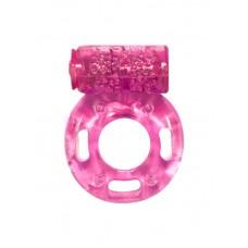 Виброкольцо эрекционное Lola Toys Rings Axle-pin, TPE, Розовое
