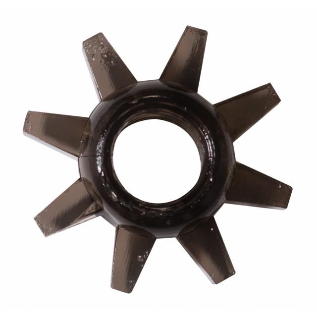 Эрекционное кольцо Rings Cogweel black, TPE, Черное