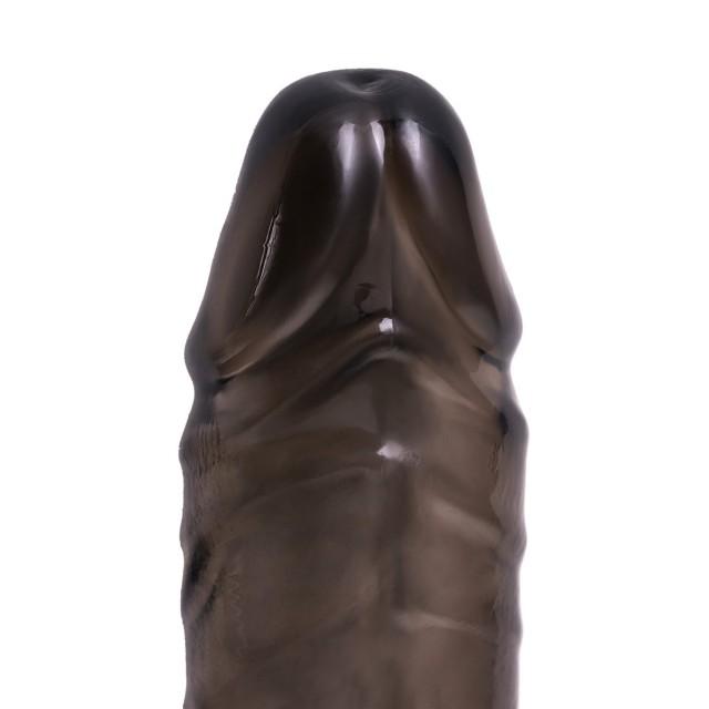 Насадка на пенис TOYFA XLover, TPE, Чёрная, 15,5см