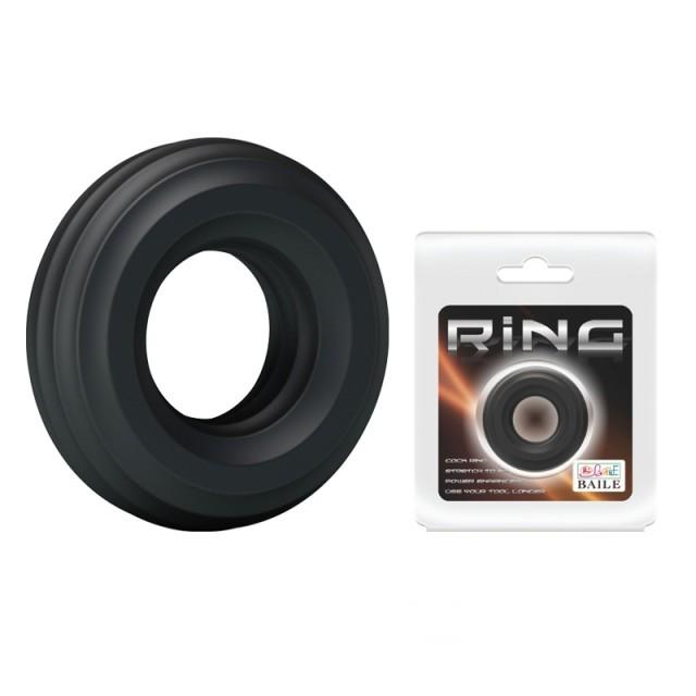 Эрекционное кольцо Baile Titan, Силиконовое, Черное, 4,3см