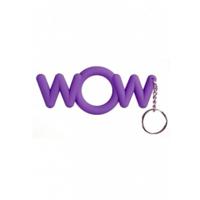 Эрекционное кольцо-брелок сувенирное WOW Cockring, силиконовое, Фиолетовое