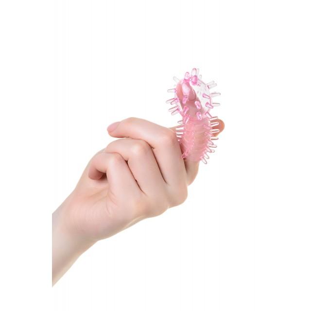 Набор насадок на палец TOYFA, TPE, Розовых, 3шт