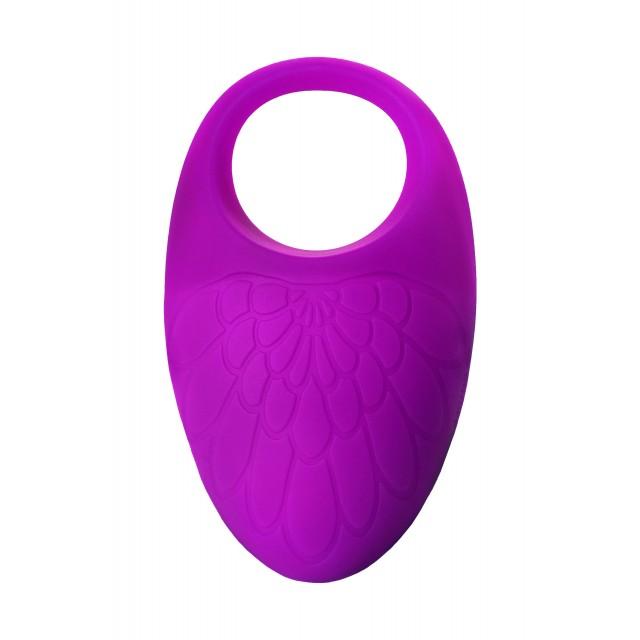 Виброкольцо с ресничками перезаряжаемое JOS RICO, Силиконовое, Фиолетовый, 9см