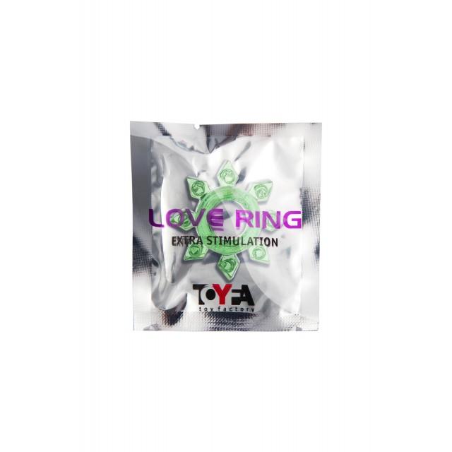 Эрекционное кольцо TOYFA, TPE, Зелёное