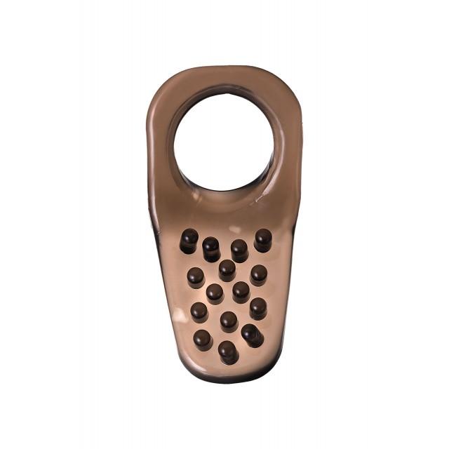 Эрекционное кольцо на пенис TOYFA XLover, TPE, Чёрное, 4см