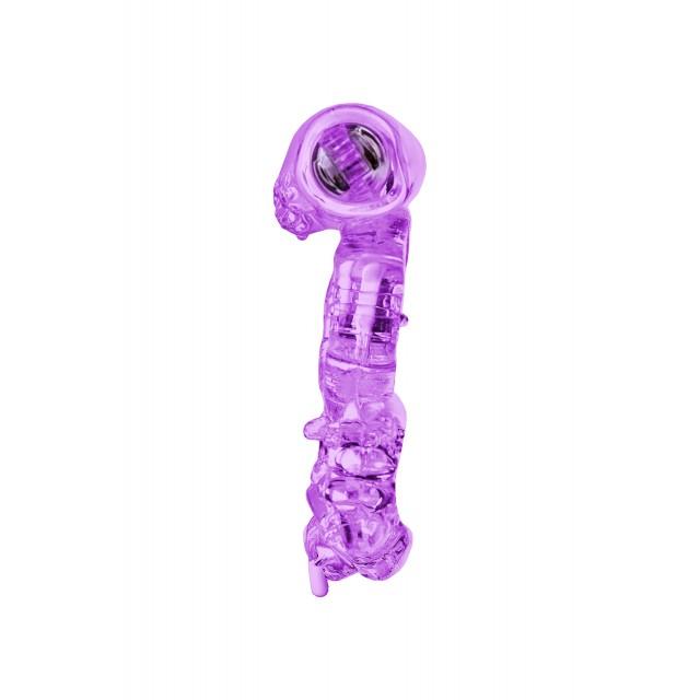 Виброкольцо TOYFA, TPE, Фиолетовое