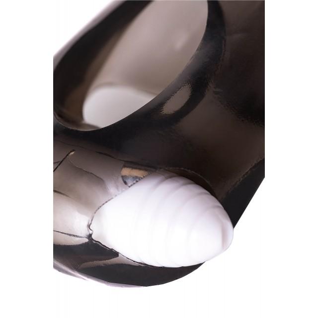 Насадка TOYFA XLover для увеличения размера с вибрацией, TPE, Чёрная, 15,5см