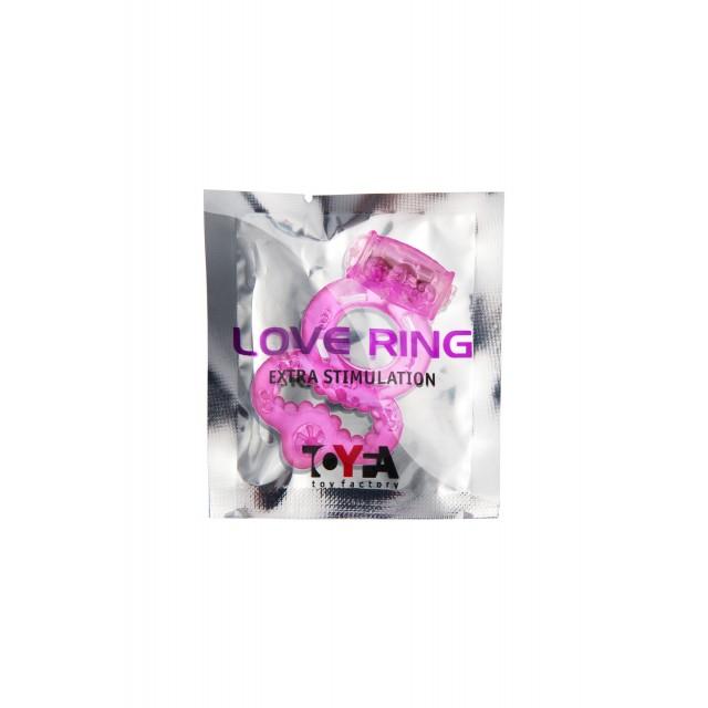 Виброкольцо TOYFA, TPE, Розовое