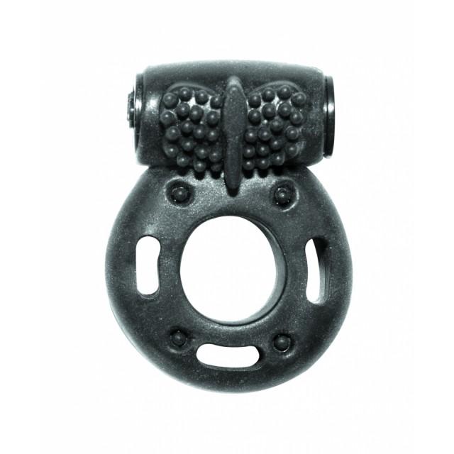Виброкольцо эрекционное Lola Toys Rings Axle-pin, TPE, Черное